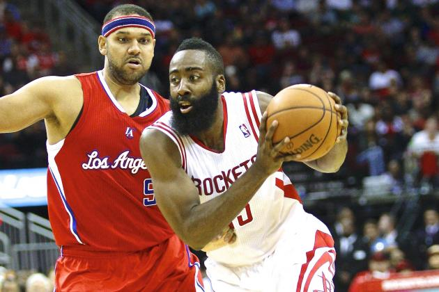 James Harden Earns First Official Flopping Fine of the 2013-14 NBA Season