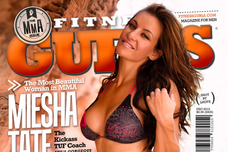 UFC: Miesha Tate Lands Fitness Gurls Magazine Cover in Bikini