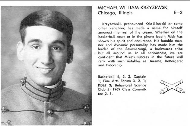 Yearbook Photo of Young Mike Krzyzewski at West Point Has Surfaced