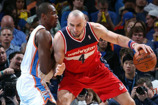 Washington Wizards' Nene, Marcin Gortat Quickly Form Bond in Front Court