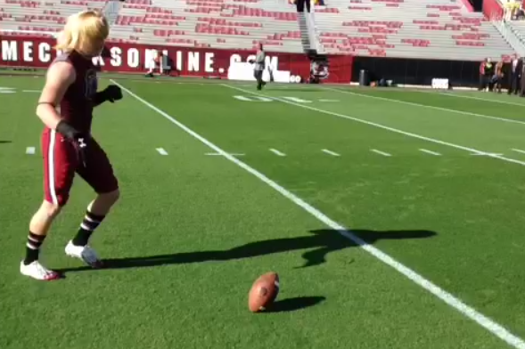South Carolina Punter Patrick Fish Perfects a Trick Shot Field Goal