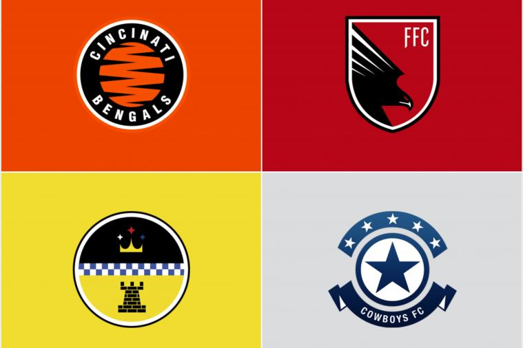 NFL Logos Redesigned to Look Like European Football (Soccer) Logos