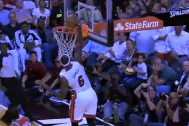 Watch How Quickly Heat Create Alley-Oop for LeBron James