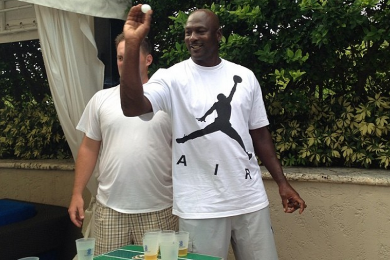 50-Year-Old Michael Jordan Plays Beer Pong at Miami Hotel