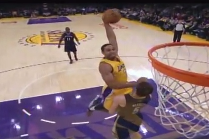 Xavier Henry Puts Ex-Kansas Teammate Jeff Withey on Poster with Monster Dunk
