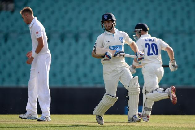 Australia Invitational XI vs. England Cricket 2013: Day 1 Scorecard and Recap