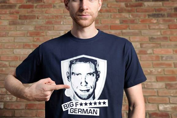 Image: Per Plugs 'Big F****** German' T-Shirts