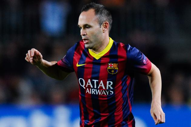 Andres Iniesta Reportedly Targeted by Manchester United for January Transfer