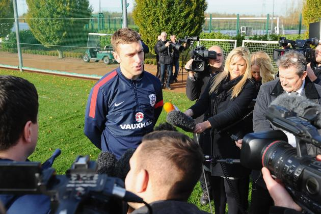 Rickie Lambert Speaks to the Press Ahead of England's Meeting with Chile