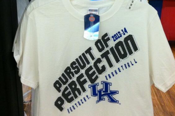 "Photo: Kentucky's ""Pursuit of Perfection"" T-Shirts on Clearance"