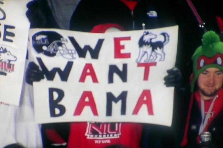 Northern Illinois University Wants Alabama, Too