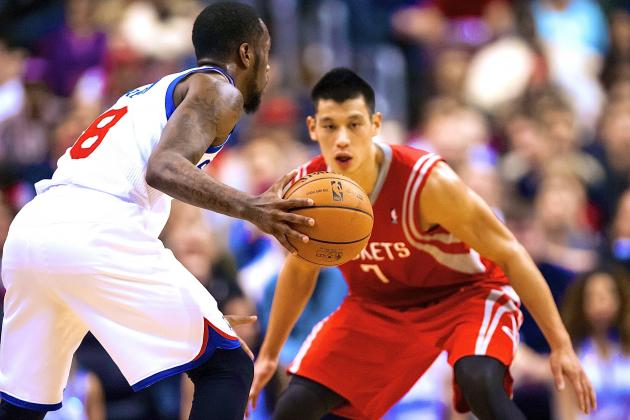 Jeremy Lin Blows Up, but 76ers' Backcourt Too Much for Rockets