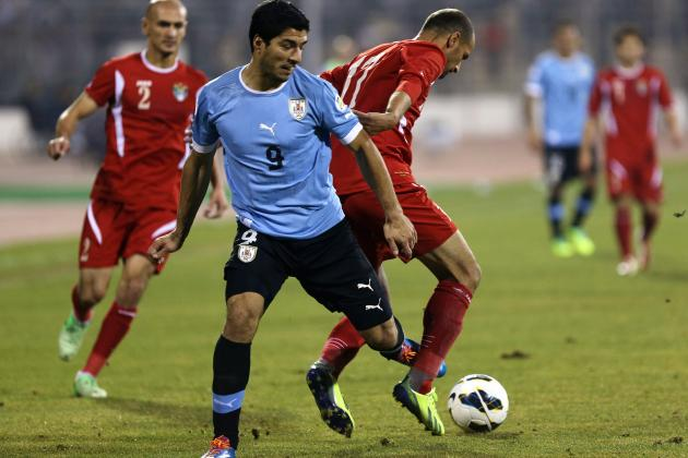 Luis Suarez in New Dive Storm After Jordan vs. Uruguay World Cup Playoff