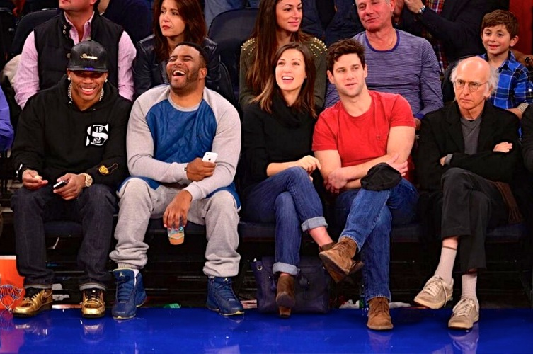 Larry David Sits Courtside at Knicks Game Looking Very Unhappy