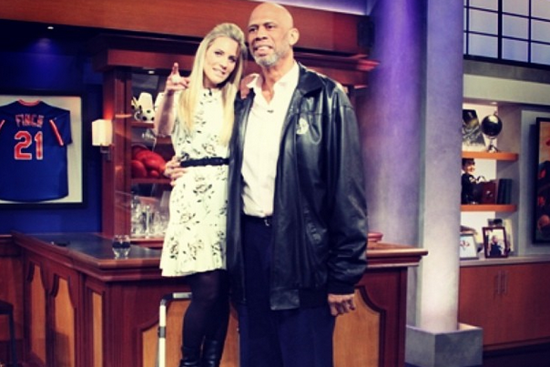 Fox Sports 1's Georgie Thompson Is Considerably Shorter Than Kareem Abdul-Jabbar
