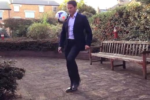 Michael Owen Football Freestyle: BT Sport Pundit Skills Video