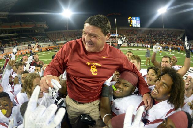 Would Wins over Stanford, UCLA Land Ed Orgeron the USC Job Long Term?