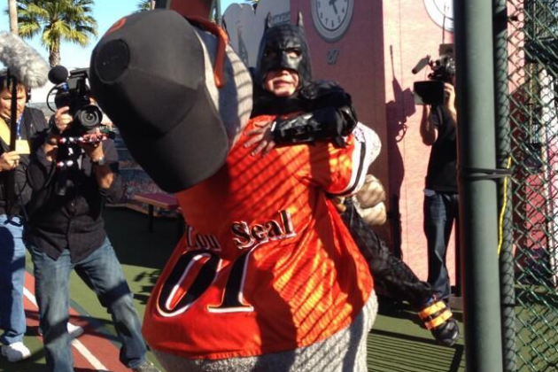 Batkid Saves Giants Mascot Lou Seal in Final Act of Heroically Wonderful Day