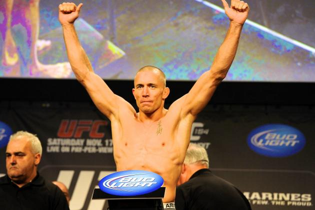 UFC 167 Weigh-in Results: Georges St-Pierre vs. Johny Hendricks Fight Card