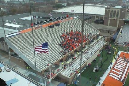 Illinois Student Section Non-Existent for Kickoff
