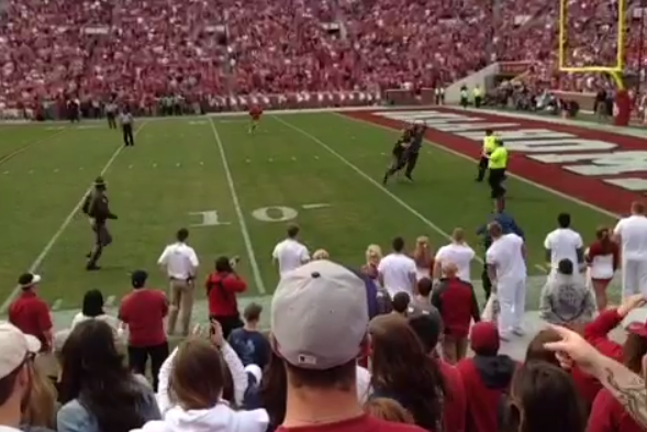 Fan Runs on Field at Oklahoma Game, Gets Destroyed by State Trooper