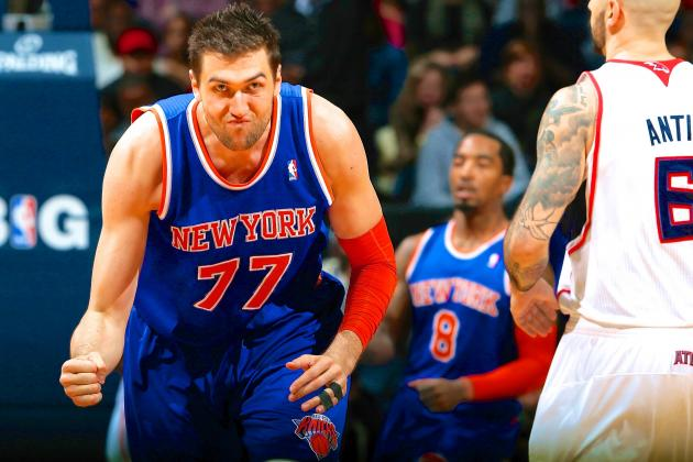 Andrea Bargnani Becoming the Player Amar'e Stoudemire Can't Be for NY Knicks