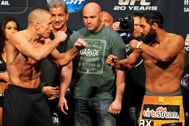 UFC 167 Live Results, Play-by-Play and Fight Card Highlights