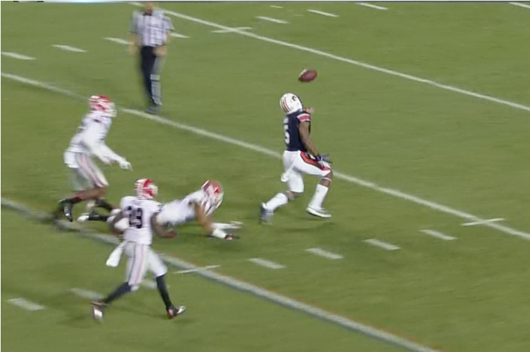Auburn Beats Georgia on 4th Down Miracle Tipped Pass TD