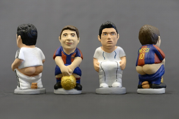 Messi, Ronaldo and Neymar as You've Never Seen Them: As Catalan Caganers