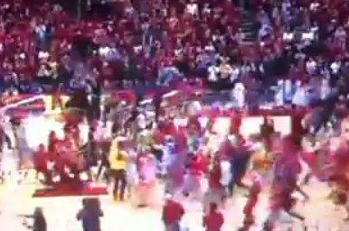 It's Court-Storming Season: Iowa State Upends No. 7 Michigan
