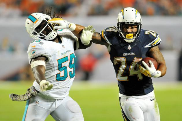 Ryan Mathews' Big Performance a Sign of New Life from Chargers' Ground Game