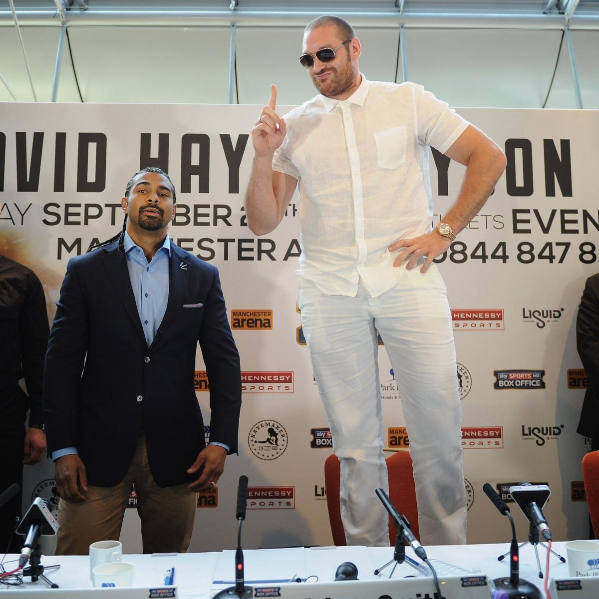 Tyson Fury Slams David Haye, Calls Out Wladimir Klitschko