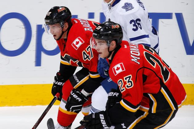 Calgary Flames Rookies Sean Monahan, Sven Baertschi Still Works in Progress