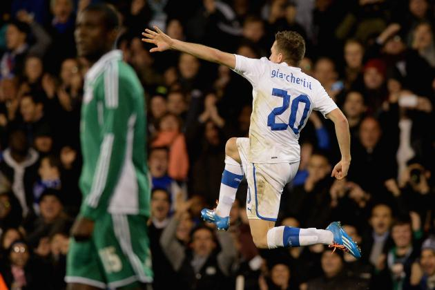 GIFs: Italy, Nigeria Play out Thrilling Draw in Friendly at Craven Cottage