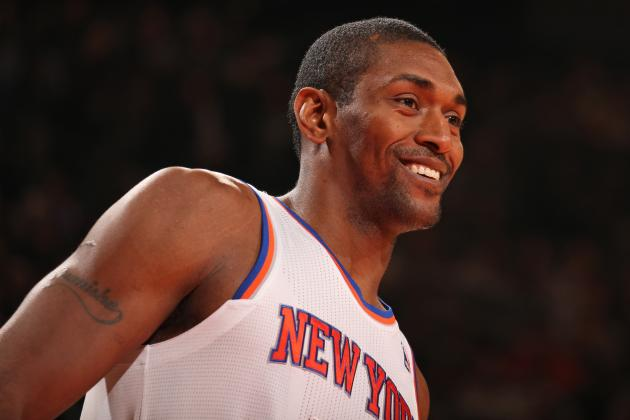 Report: Metta World Peace Has Fluid Drained from Left Knee