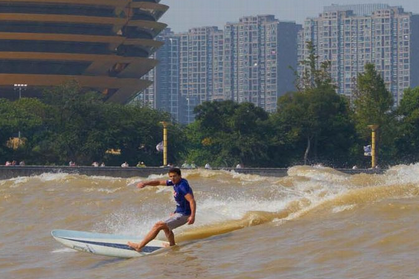 Surfing the Qiantang River in Hangzhou, China: X Games