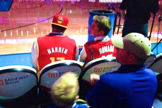 Fans Sitting Courtside Asked to Take off Rockets Jerseys at Thunder-Nuggets Game