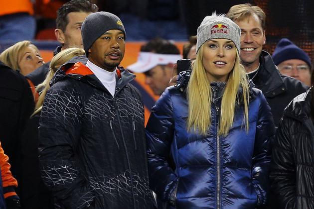 Tiger Woods and Lindsey Vonn Spotted on Denver Sideline for Chiefs vs. Broncos