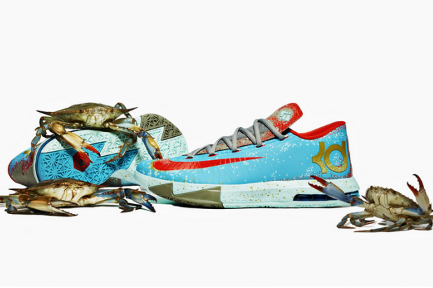Kevin Durant Debuts New Shoes: KD VI Maryland Blue Crab