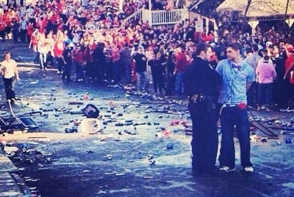 SUNY Cortland Fans Celebrate Big Win over Ithaca by Completely Trashing Town