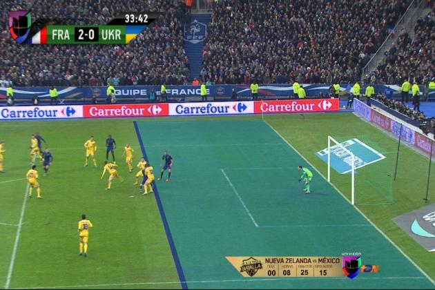 GIF: Karim Benzema Scores to Bring France Level on Aggregate vs. Ukraine