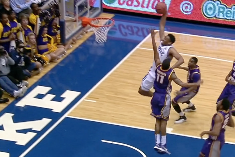 Duke's Jabari Parker Goes Coast-to-Coast for a Huge Slam