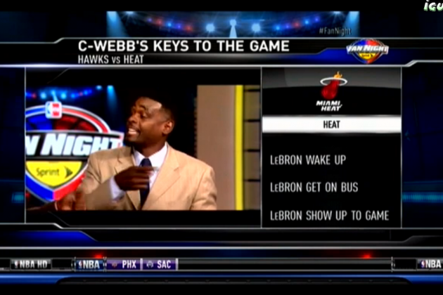 Chris Webber's Three Keys to Heat-Hawks Game Are Absolutely Perfect