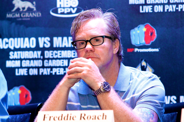 Freddie Roach, Robert Garcia and Alex Ariza Have Confrontation in Macau Gym