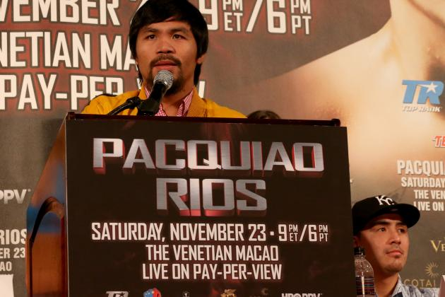 Manny Pacquiao vs. Brandon Rios: Betting Odds Preview, Prediction