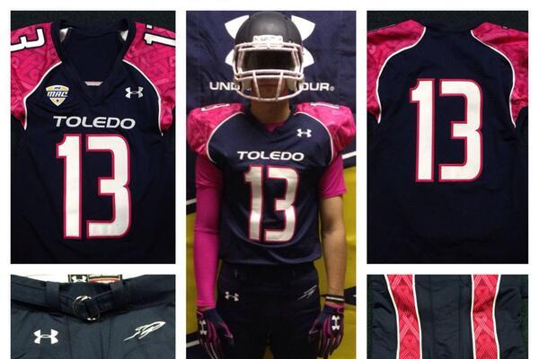 Toledo Teams with Under Armour to Unveil 'Power in Pink' Uniforms