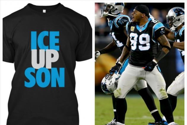 Panthers WR Steve Smith's 'Ice Up Son' Phrase Is Now a T-Shirt