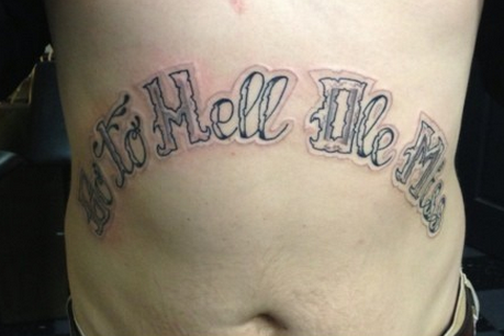 Mississippi State Fan Gets Bold 'Go to Hell Ole Miss' Tattoo on Abdomen