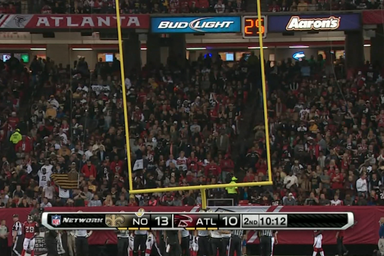 Saints' Jimmy Graham Bends Goal Post After Dunking Ball in TD Celebration