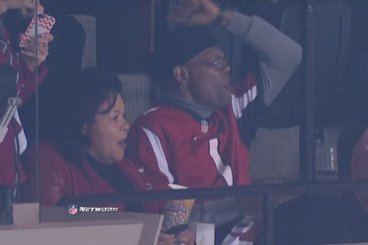 Samuel L. Jackson Wasn't a Fan of Matt Ryan's Slide on 3rd-and-Goal